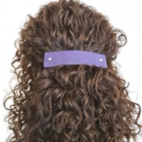 Hair Clip French Barrette in Dark Purple
