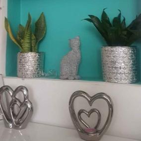 BTMR Inspired Interiors | Silver Embossed Plant Pot