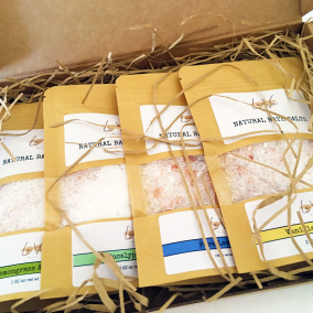 Bath salts Gift box Organic Vegan Natural