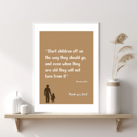 Father's Day Wall Art – Thank You, Dad!