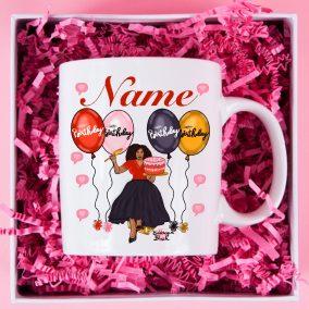 birthday mug red