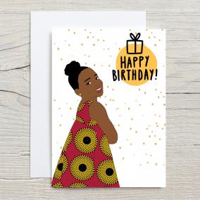 Young Black Girl Magic Card