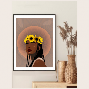 Crown Of Flowers Wall Art – Gifts for Women