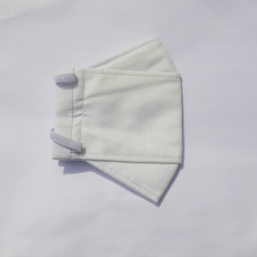 Ivory Canvas Origami Face Mask