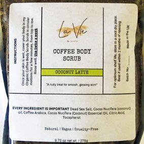 coconut latte close up