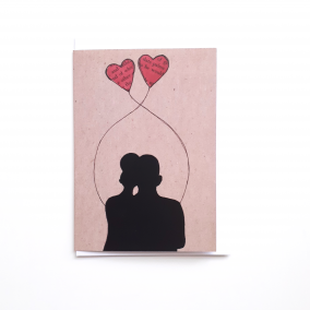 Greeting Card for Couples 'Entwined' | Valentines Day | Anniversary