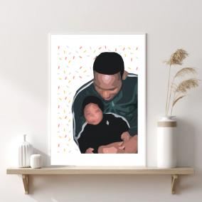 Father's Day – Wall Art – Boy Dad