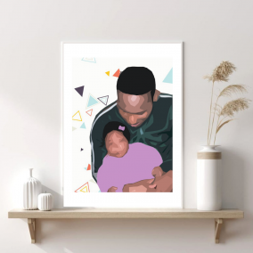 Father's Day – Wall Art – Girl Dad