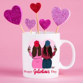 Happy Galentine's Day Mug Personalised
