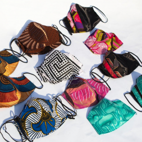 Face Mask – African print Fabric with FILTER PAPER