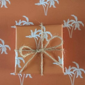 Copper Palm – Luxury Gift Wrapping Paper