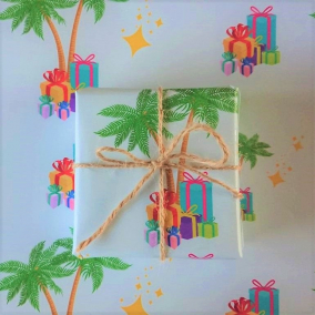 EXCLUSIVE! Gift Palm Oasis – Luxury Gift Wrapping Paper