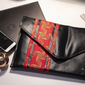 Laptop Sleeve/ Case_ Device Case (MacBook, Laptops, Tablets) with Ankara / African print Fabric Detail