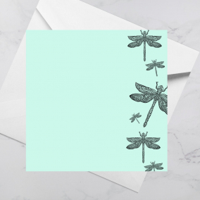Luxury Greeting Card – Dragonfly