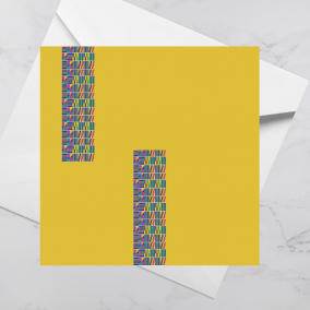 Luxury Greeting Card – Kente Blue
