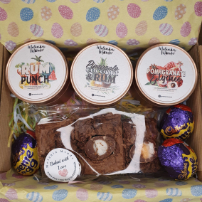 Easter Candle Gift Box | Easter Chocolate Treat | Easter Brownie Gift | Easter Gift | Personalised Self Care Chocolate Gift | Happy Easter
