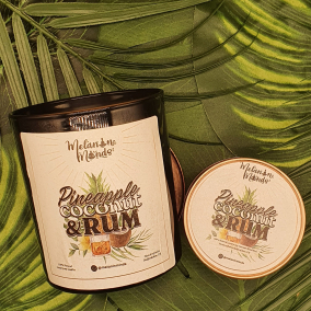 Melanin Minds Candle – Caribbean Pineapple, Coconut And Rum Candle
