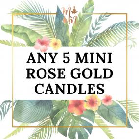 Melanin Minds Candles – Any 5 Mini Rose Gold Tin Candles
