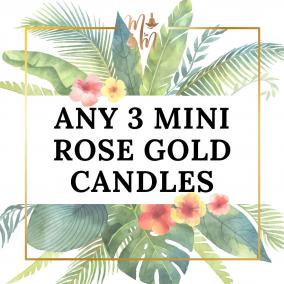 Melanin Minds Candles – Any 3 Mini Rose Gold Tin Candles