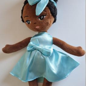 Plush Amaris doll, doll, rag doll, soft plush doll, 1st birthday, first doll, baby shower, birthday, Christmas, black doll, UK, Plush doll
