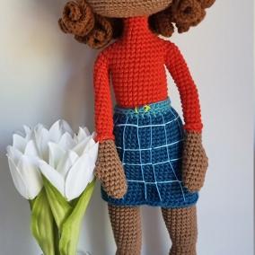 Amigurumi doll 45cm, crochet doll, Knitted doll, Crochet doll, Knitted handmade doll, Crochet handmade doll, interior doll, gift for girls