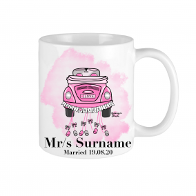 Mrs and Mr wedding gift married Mug Personalised