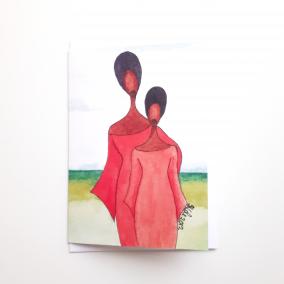 Black Greeting Card 'Mother's Pride'