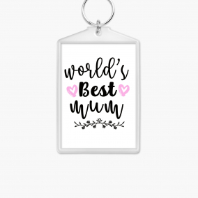World's best mom/mum keychain keyring mother's day gift present