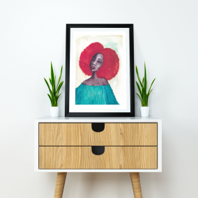 Black Afrocentric Wall Art | Black Woman Art Print 8.3″ x 11.7″ | 'New Dawn' | A4 Unframed Print