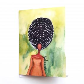 Black Greeting Card 'Self Awareness'