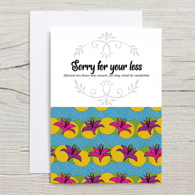 Sorry for you Loss. Bereavement Card