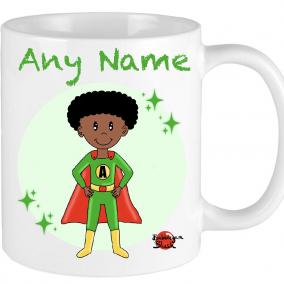 Superhero Mug Personalised boy girl gift Christmas