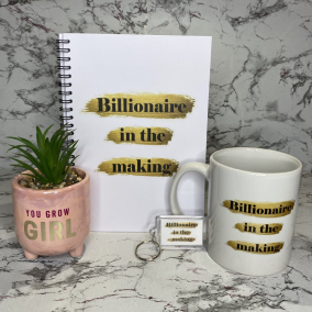 A5 Billionaire in the making journal notebook gift set bundle
