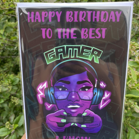 Happy Birthday To The Best Gamer I know Greeting Card For Girls And Women